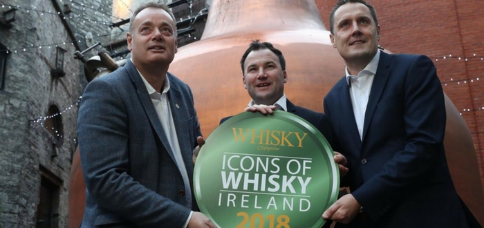 Irish Distillers Named Distiller Of The Year 2017 At The Inaugural Icons Of Whisky Ireland Awards.