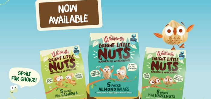 Whitworths Launches 'Bright Little Nuts' – The UK's First Nut Snack Created For Kids.