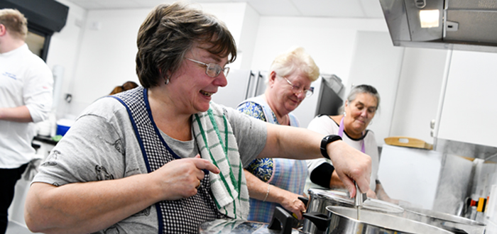 Surplus Food Put To Good Use With Tesco Community Cookery School Programme, Supported By Jamie Oliver.