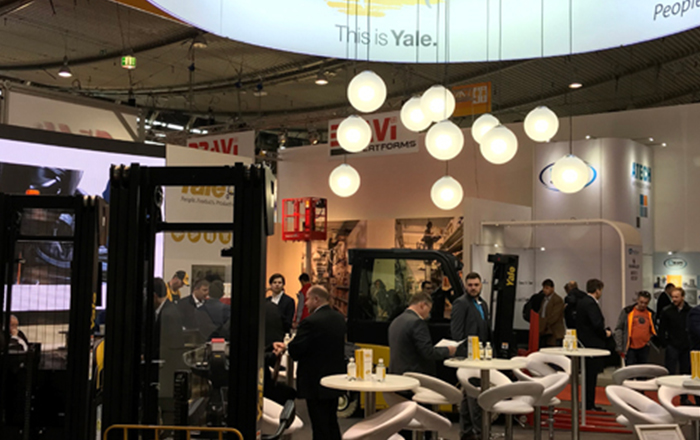 Visitors Experience 'This is Yale' At LogiMAT 2019.