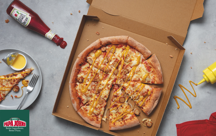 Papa John's Launches World's First Heinz Tomato Ketchup Pizza.