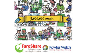 Fowler Welch And FareShare Celebrate Three Years And Three Million Meals.