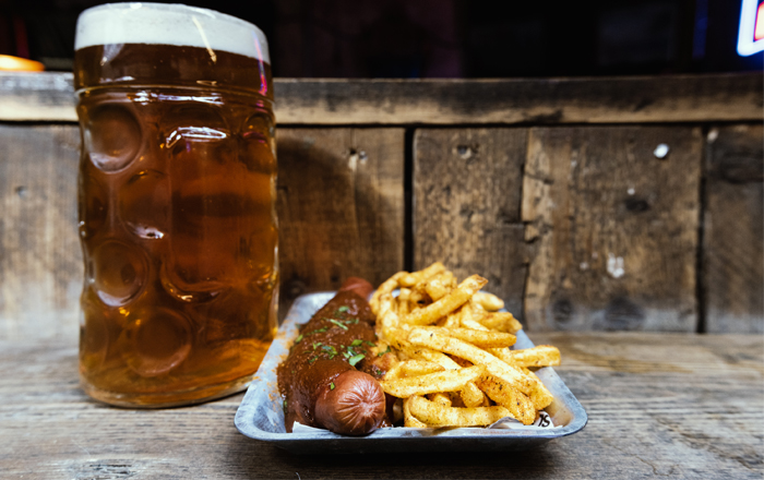 A Stein And A Sausage For Oktoberfest.
