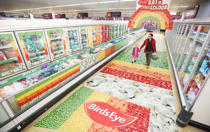 Birds Eye And Sainsbury's Revamp Frozen Aisle To Get People To Shop In Full Colour.