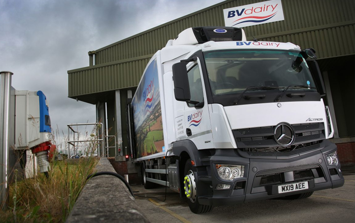 Carrier Transicold Supra® 850 Unit With Eco-Drive Technology Offers New Hybrid Sustainability Solution For BV Dairy.