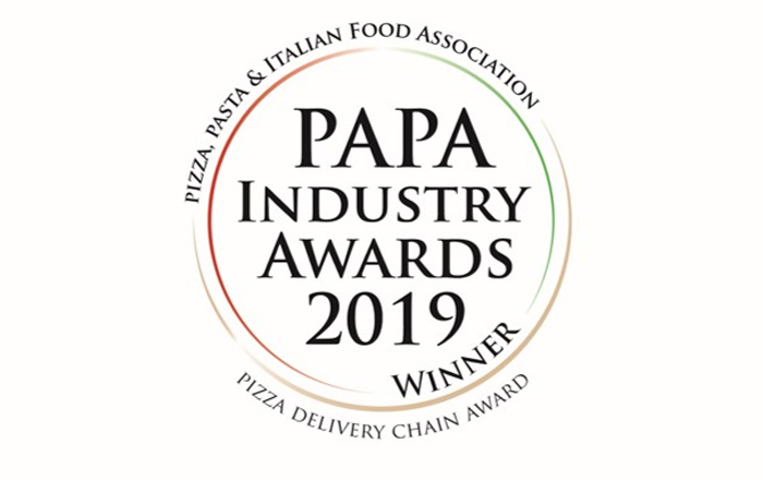 Papa John's Named as Pizza Delivery Chain of the Year for 2019.